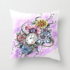 About Time Throw Pillow