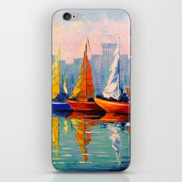 Sailboats in the Bay iPhone Skin