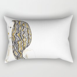 yellow rasta Rectangular Pillow