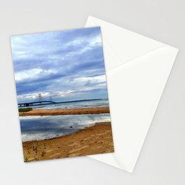 Mackinac Bridge on a Cloudy Day Stationery Cards