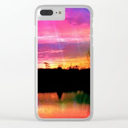 Watercolor January Texas Sunrise Clear iPhone Case