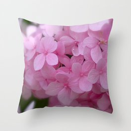 Pink Hydrangea - Flower Photography Throw Pillow