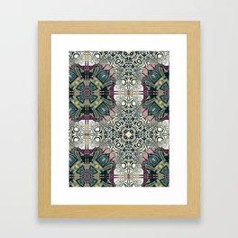Dug Up Mandala 4 Framed Art Print