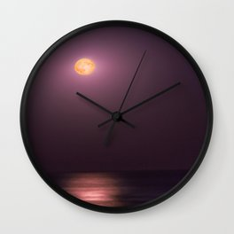 Full Moon High Wall Clock