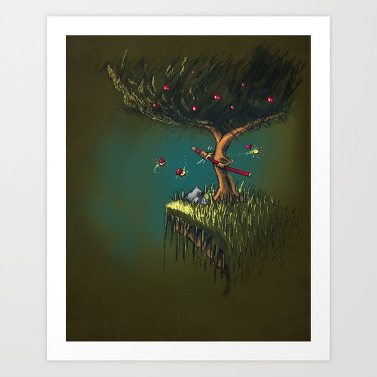 Apple Ninja Art Print