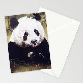 Panda Bear Pastel Painting Stationery Cards