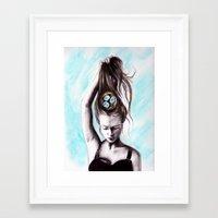 rapunzel Framed Art Prints featuring Rapunzel  by Bella Harris