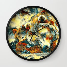 AnimalArt_Bear_20170602_by_JAMColorsSpecial Wall Clock