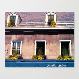 Signs: Jardin Nelson Canvas Print