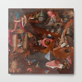 "Hieronymus Bosch ""The Last Judgment"" triptych (Bruges) cental panel Metal Print"