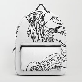Humanzee Smiling Doodle Backpack