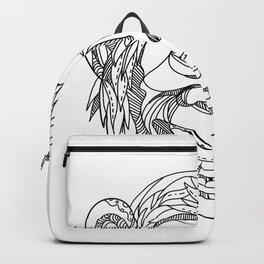 Humanzee Smiling Doodle Backpack