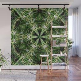 Spider Plant Kaleidoscope Art 1 Wall Mural