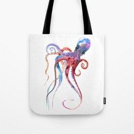 Octopus, blue red purple octopus art, octopus design Tote Bag