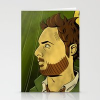watchmen Stationery Cards featuring It's Always Sunny in Watchmen - Charlie by Jessica On Paper