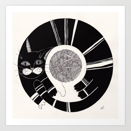 cats life: playing Art Print