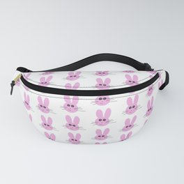 Cute Pink Bunny Pattern Fanny Pack
