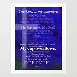 He restores my soul Art Print