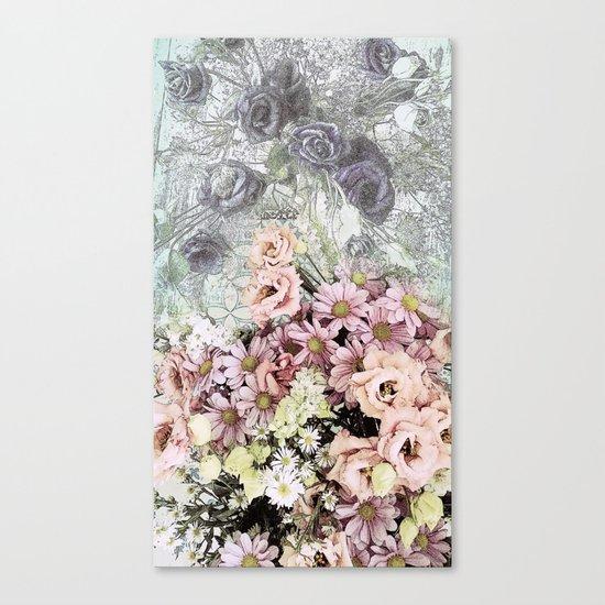 Delicate dreamy pastel floral Canvas Print