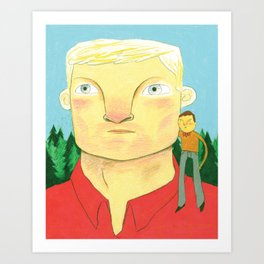 Paul Bunyan Drawing Art Print