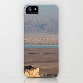 Massada Israel looking toward the Dead Sea iPhone Case