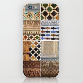 Mathematics and the Alhambra. Wall details. The Alhambra Palace. 16 iPhone Case