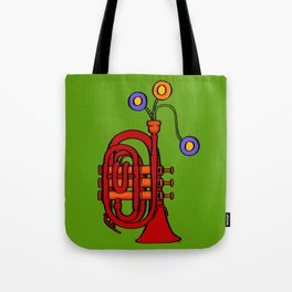 Happy to see my pocket trumpet Tote Bag