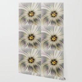 Blossom, Abstract Fantasy Flower Fractal Art Wallpaper