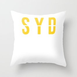SYD - Sydney Airport - Australia - Airport Code Souvenir or Gift Design  Throw Pillow