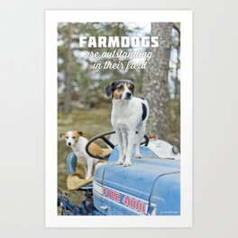 Outstanding Farmdogs Art Print
