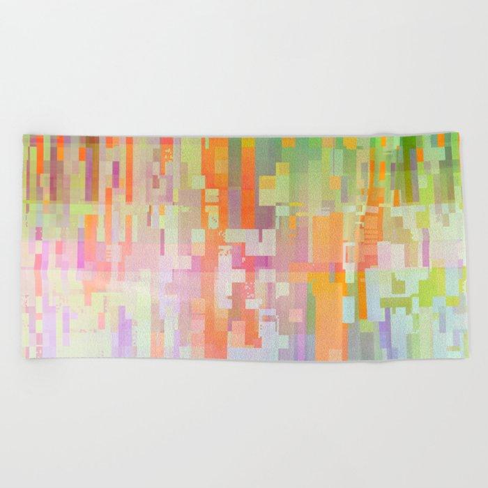 colorful rain Beach Towel