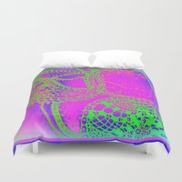 paisley Duvet Covers featuring paisley by Rebecca Ashe