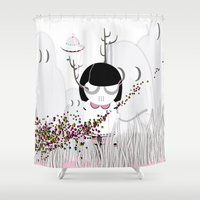 i want to believe Shower Curtains featuring I WANT TO BELIEVE by Agente Morillas