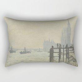 Claude Monet - The Thames Below Westminster Rectangular Pillow