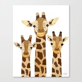 Giraffe Collage Canvas Print