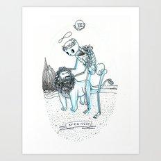 Strength Skeleton Tarot Art Print