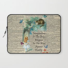 Alice In Wonderland Quote - Imagination - Dictionary Page Laptop Sleeve