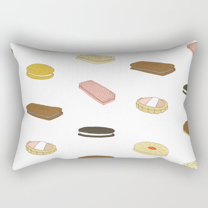 biscui - biscuit pattern Rectangular Pillow