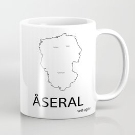 map of åseral Coffee Mug