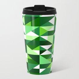 Green Machine / Pattern #8 Metal Travel Mug
