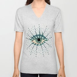 Abstract Eye With Dots Unisex V-Neck