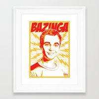 bazinga Framed Art Prints featuring Bazinga! by rmbt24