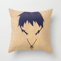 gurren lagann Throw Pillows featuring Minimalist Simon by 5eth