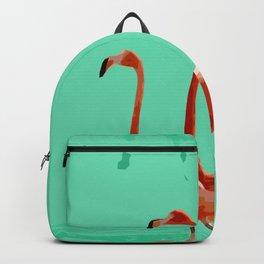 Flamingos on Sea Green Backpack