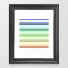 Beach Blanket Blue/Green/Orange Framed Art Print