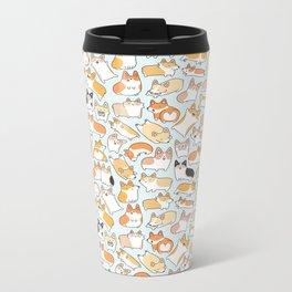 Corgilicious Corgi Doodle Metal Travel Mug