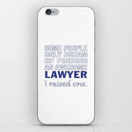 LAWYER'S DAD iPhone Skin