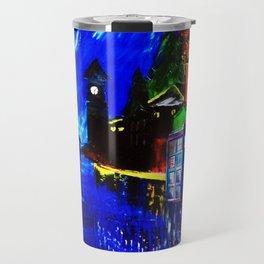 Tardis Phone Both Starry Night Travel Mug