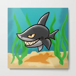 Grinning Shark Metal Print