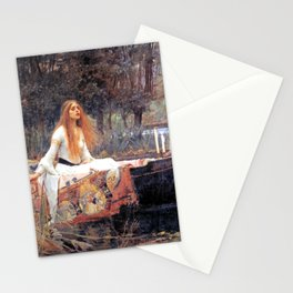 The Lady Of Shalott John William Waterhouse Stationery Cards